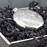 English Pewter Company Flachmann Flachmann, Zinn, keltisches. personalisierbar mit gratis Gravur