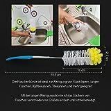 com-four® 4 Flaschenbürsten mit Schwamm - 2