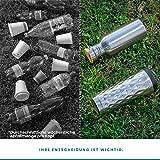 Pure Design – 350 ml Edelstahl Trinkflasche in Geschenk Verpackung - 4