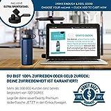 """720°DGREE Edelstahl Trinkflasche """"noLimit"""" – 1200ml - Auslaufsicher, Kohlensäure geeignet, BPA-Frei - Isolierflasche mit Schraubverschluss für Sport, Fitness, Outdoor +Gratis Sportdeckel - 5"""