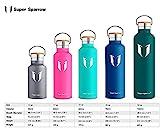 Super Sparrow Trinkflasche Edelstahl Wasserflasche – 750ml – mit 2 auswechselbaren Kappen - 3
