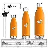 Aorin 500ml Trinkflasche (Orange) - 8