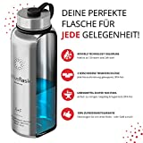 ACTIVE FLASK von BeMaxx Fitness 950ml (Classic Stainless) - 6